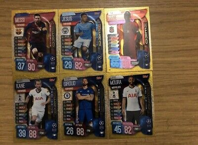 Match Attax 2019/20 Full Set Of All 6 Hat-Trick Hero Cards 315-320 Mint Rare