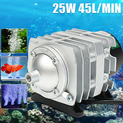 220V 25W 45L/min Electromagnetic Aquarium Air Pump Fish Tank Farms Pond AU