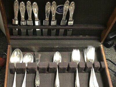 Prelude International Sterling Silver Flatware 43 pc partial set w/storage chest