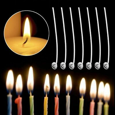 100Pcs Handmade DIY Craft Home Sustainer Wick Cotton Waxed Making Candle Core