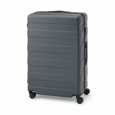 MUJI Suitcase Bar height adjusted Hard carry case 105L Dark Gray stopper ToGO