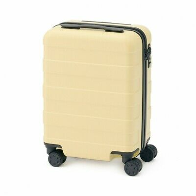 MUJI Suitcase Bar height adjusted Hard carry case 20L Light Yellow stopper ToGO