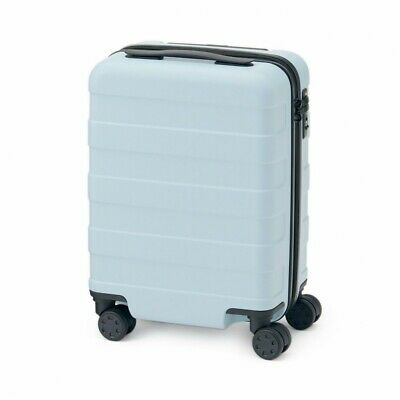 MUJI Suitcase Bar height adjusted Hard carry case 20L Light Blue stopper ToGO