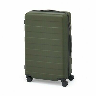 MUJI Suitcase Bar height adjusted Hard carry case 63L Dark Green stopper ToGO