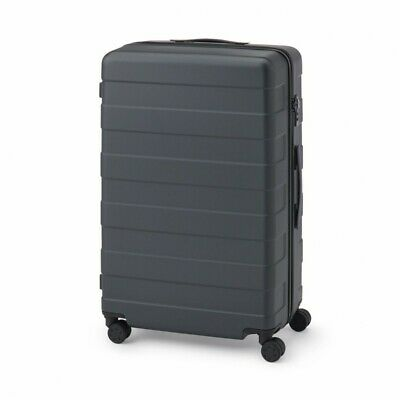 MUJI Suitcase Bar height adjusted Hard carry case 88L Dark Gray stopper ToGO