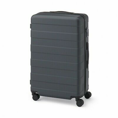 MUJI Suitcase Bar height adjusted Hard carry case 63L Dark Gray stopper ToGO