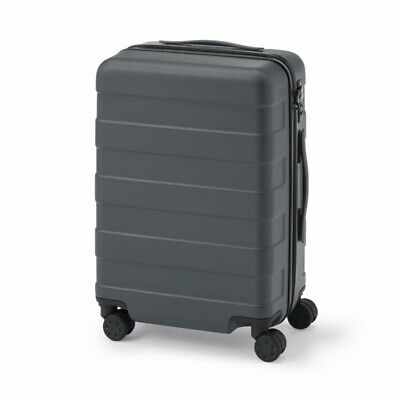 MUJI Suitcase Bar height adjusted Hard carry case 36L Dark Gray stopper ToGO