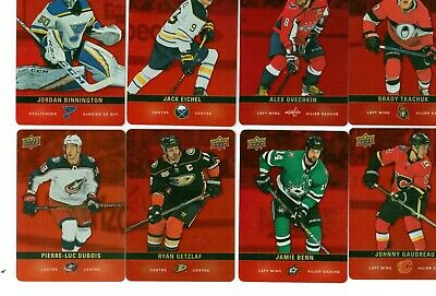 2019 2020 Upper Deck Tim Hortons Hockey Red Die Cut Parallel U PICK SALE
