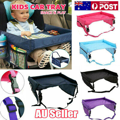 Waterproof Baby Portable Safety Kids Car Seat Lap Travel Tray Activity Table AU