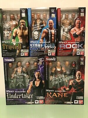 EXCELLENT CONDITION S.H.Figuarts WWE Superstar Series Action Figures Lot of 5