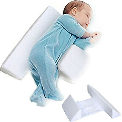 Newborn Infant Baby Sleep Pillow Support Wedge Anti-Roll Prevent Flat Head New