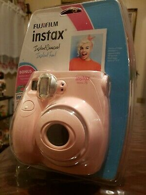 Fujifilm Instax Mini 7s Light Pink Camera Bonus Film Pack