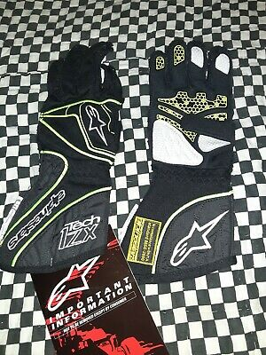 Alpinestars Tech 1zx Racing Gloves small Black And Yellow