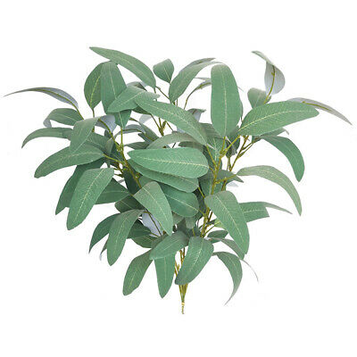 Artificial Fake Faux Silk Flower Eucalyptus Plant Green Leaves Favor Home-Decor