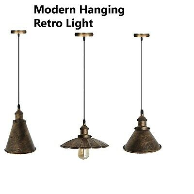 Edison Metal Lamp Industrial Ceiling Pendant Shade Modern Hanging Retro Light