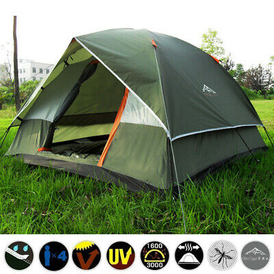 Outdoor 3-4 Person Camping Tent 210T Waterproof Double-layer Family Hiking New