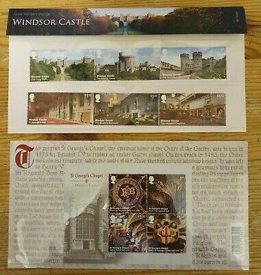 GB 2017. WINDSOR CASTLE. 10 stamps in total -Royal Mail in Mint never hinged