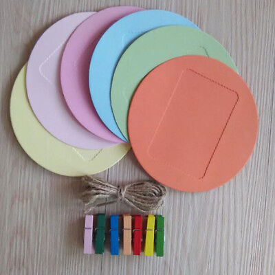 Colorful Round Hanging Paper Photo Frame  DIY Hanging Picture Album Supplies PF