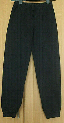 NEW jogging pants trousers Age 10 - 11 yrs VGC School Life black cosy cotton mix