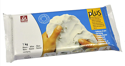 Sio2 Plus 1Kg Self Hardening Clay - White