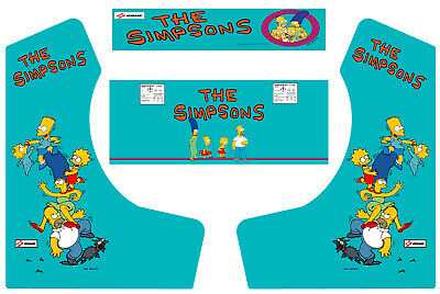 The Simpsons Bartop Arcade Side Art Arcade Cabinet Graphics Marquee Cpo Kit