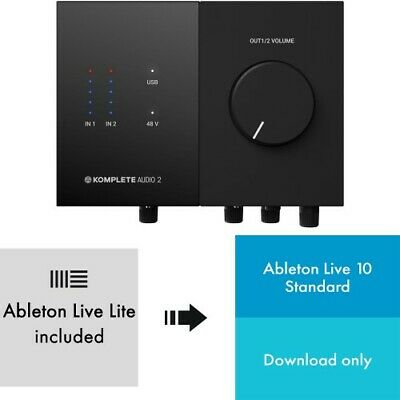 Native Instruments KOMPLETE AUDIO 2 + Ableton Live 10 | Neu