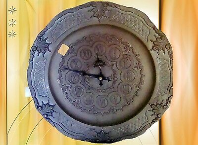 Wall Clock Tin Plate Watch Battery Vintage Aesthetics Deco Jewelry for Collector