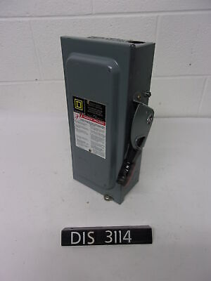 Square D 240 Volt 60 Amp Fused Disconnect Safety Switch (DIS3114)