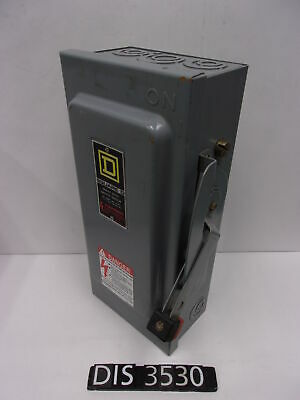Square D 240 Volt 30 Amp Fused Disconnect Safety Switch (DIS3530)