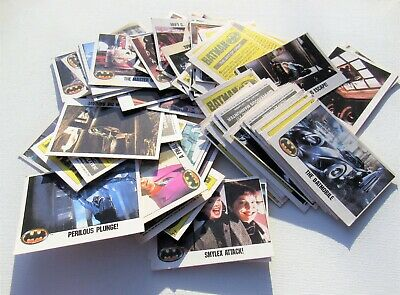 Collection of Batman 1989 Topps Trading Cards