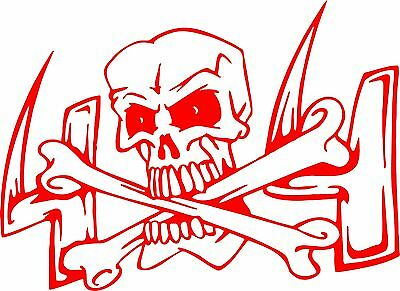 Skull Head 4 x 4 Cross Bones Car Truck Window Wall Laptop Vinyl Decal Sticker