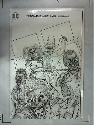 Batman Who Laughs #1 Blank Sketch and BUY ME TOYS VARIANTs Ships FAST METAL NM+