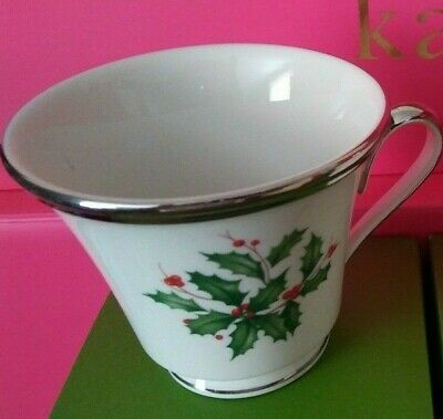 Lenox ~ HOLIDAY DIMENSION COLLECTION ~ Holiday Platinum ~ Footed Tea Cup ~ NEW!