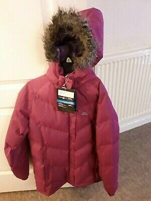 New With Tags Girls Warm Winter Coat With Hood Age 11/12 Years By Trepass