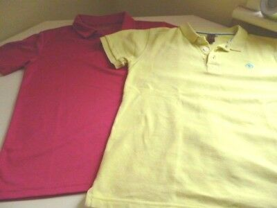 Two Freshly Laundered POLO SHIRTS. AWD is Pink & URBAN OUTLAW  Yellow ~ 9-11yrs