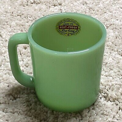 RARE Fire King Jadeite Jadite Child's Mug Cup ~ ULTRA SCARCE Piece ~ Label ~