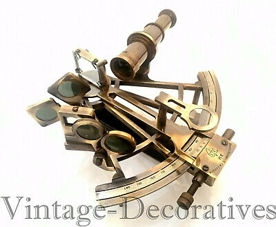Solid Brass Sextant Antique Marine Working Ship Sextant Maritime Navigation Gift