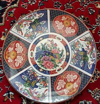 Antique/ Vintage Japanese Plate Blue and Red
