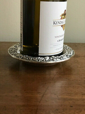 S. KIRK & SON Sterling Silver Repousse Wine Bottle Coaster, Dish