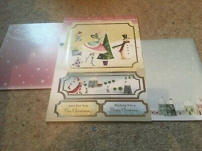 Hunkdory Kit - Dec The Tree - Die Cut Topper Sheet & 2 Backing Cards