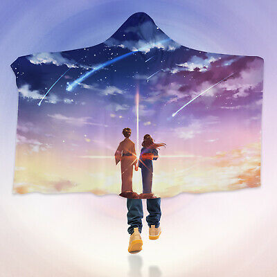 Details about  /3D Your Name G095 Hooded Blanket Cloak Japan Anime Cosplay Game Zoe