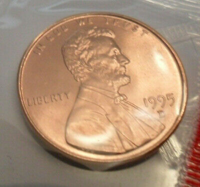 Penny  **FREE SHIPPING** FRESH FROM BANK ROLL 1995 D Lincoln Memorial Cent BU