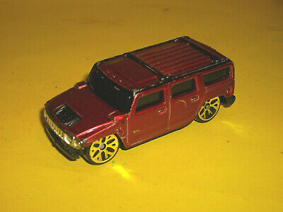 ### Maisto Metallic Red Hummer H2 Suv 1/64 Scale Diecast Car