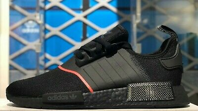 Adidas Nmd R1 Core Black Solar Red Carbon Bred Brand New Ee5085