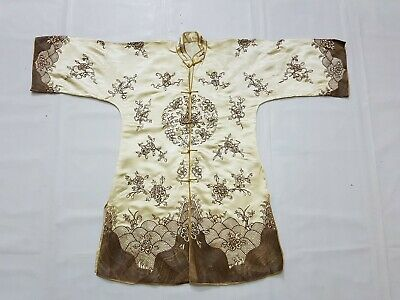 Antique Chinese Silk Hand Embroidery Robe