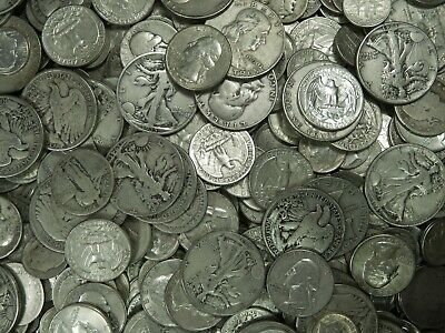 90% Junk Silver US Coins lot of $10.00 Face Value Pre-1965 No Clad Or Nickels