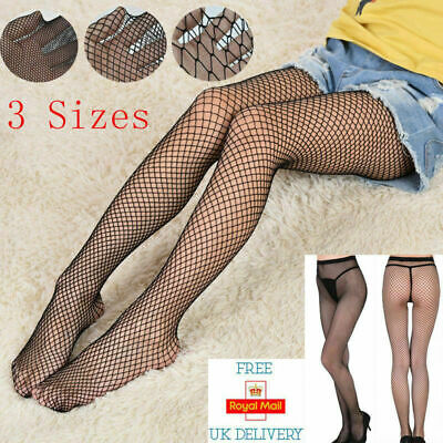Women Sexy Fishnet Stockings Hollow Stretchy Tights Seamless Net Pantyhose Black