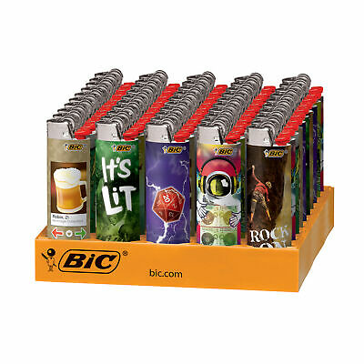 BIC Special Good Vibes Series Lighters, 50-Count Tray