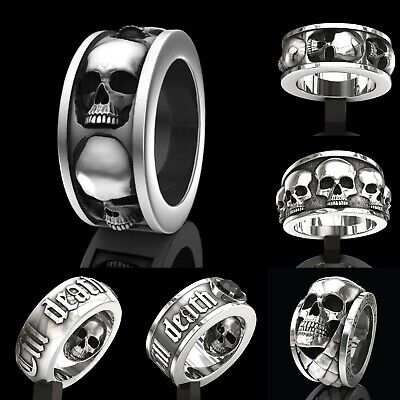 Jewelry Men Gothic Vintage Rock Band Biker Skull Stainless Steel Gift Ring Punk
