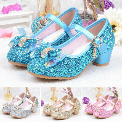 Infant Kids Baby Girls Pearl Crystal Bling Bowknot Single Princess Shoes Sandals